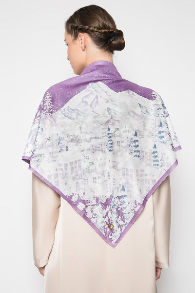 Malerei Lilas Scarf in Lilac
