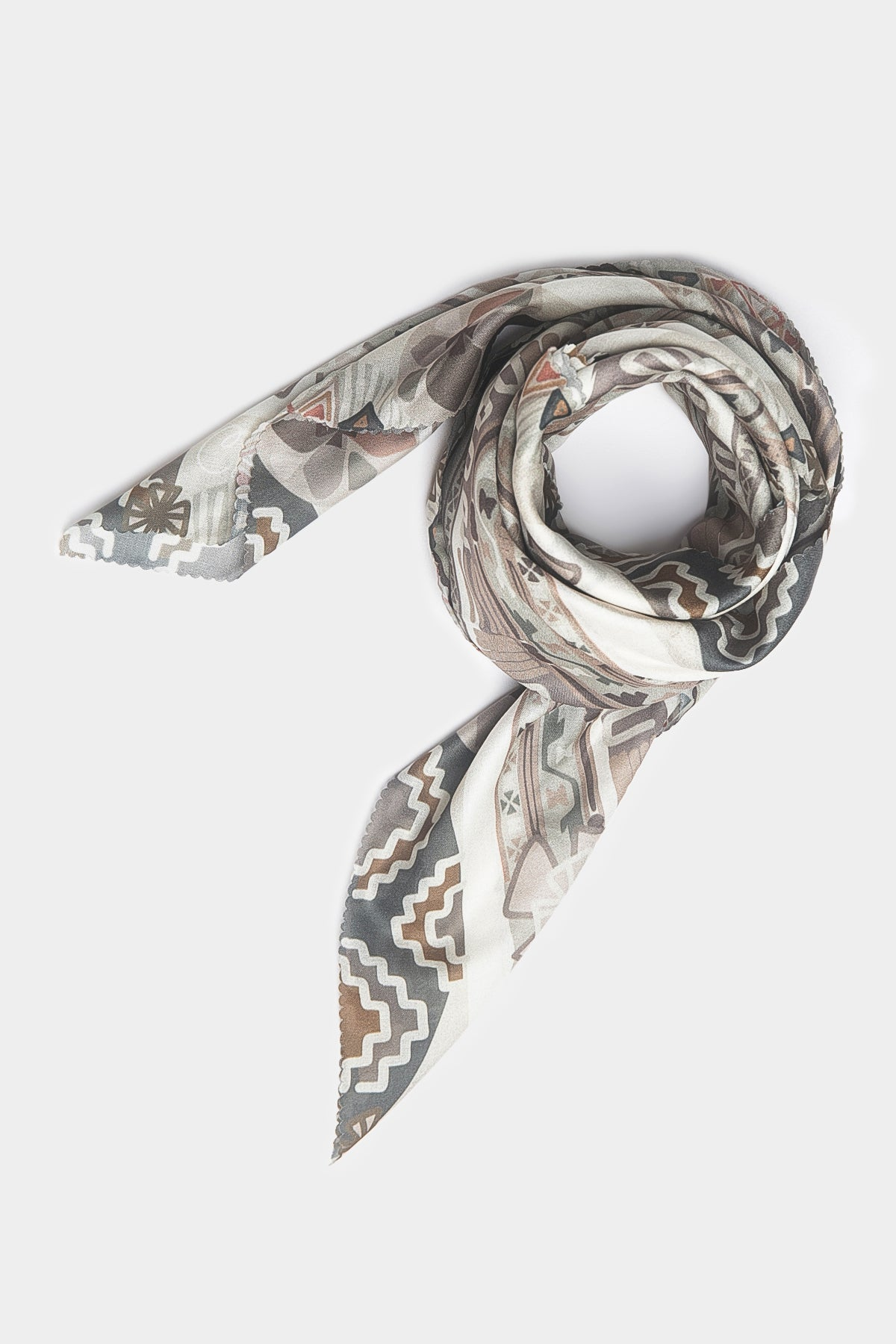 Ayse Scarf in Broken White