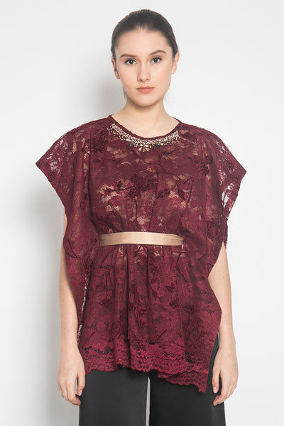 Jina Top in Maroon