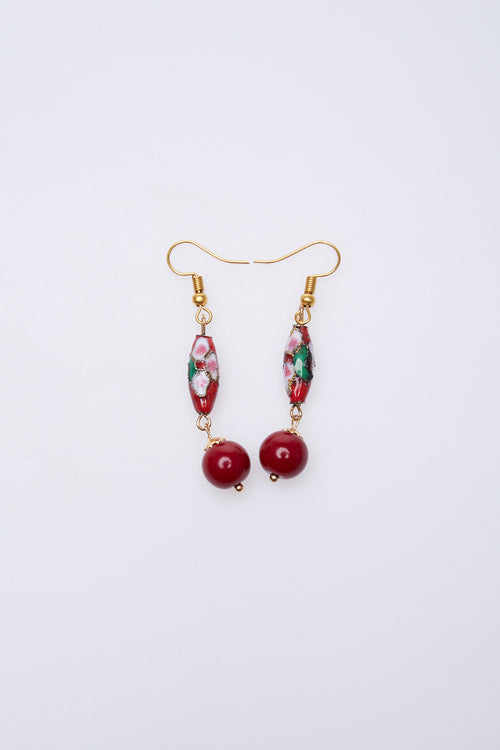 Olin Earrings in Red