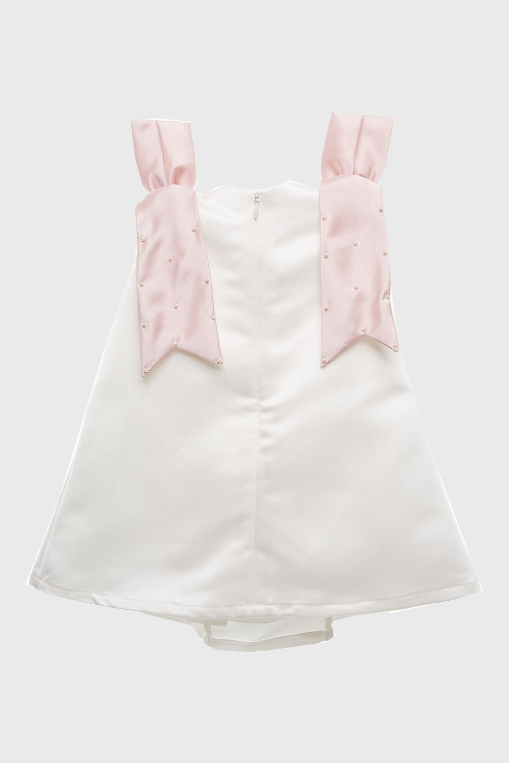 Anaia Dress in White Pink