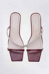 Francesca Shoes in Maroon Beige
