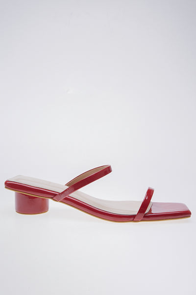 Ludovica Shoes in Dark Red