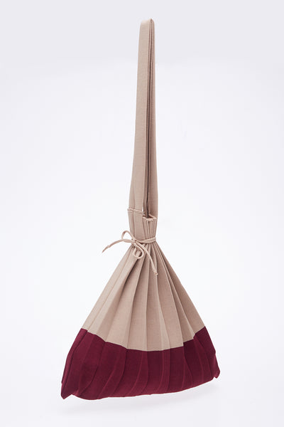 Plise Bag in Nude Maroon