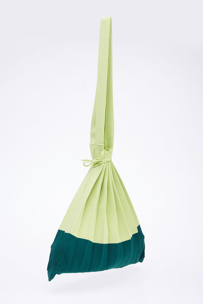 Plise Bag in Green