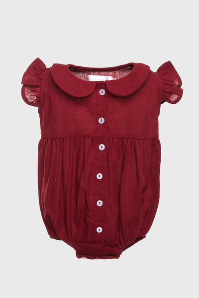 Jolly Romper in Maroon
