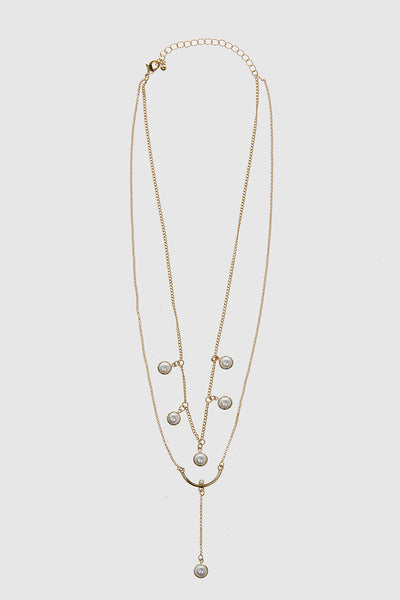 Perla Layered Pearl Necklace