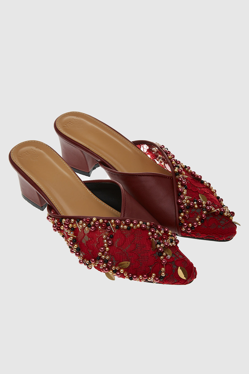 Carol Shoes in Maroon