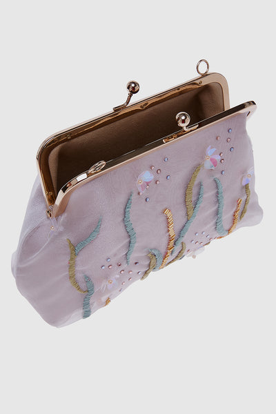 Wildflower Trapeze Clutch in Pink