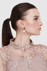 Lovisa Earrings in Maroon