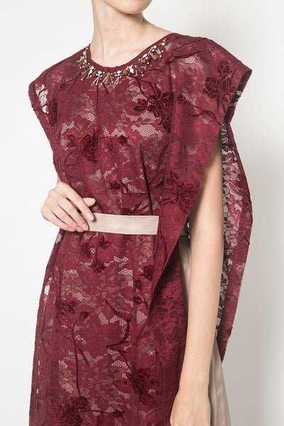 Sorrel Dress in Maroon