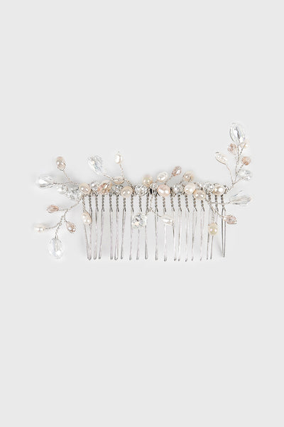 Elham Hair Comb in Silver