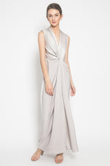 Glass Draped Dress in Silver