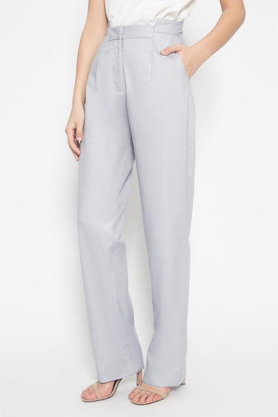 Skyline Mid Waist Pants in Blue