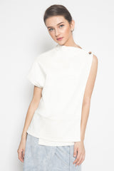 Clay One Shoulder Top in White