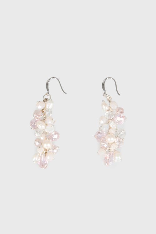 Ciara Earrings in Pink