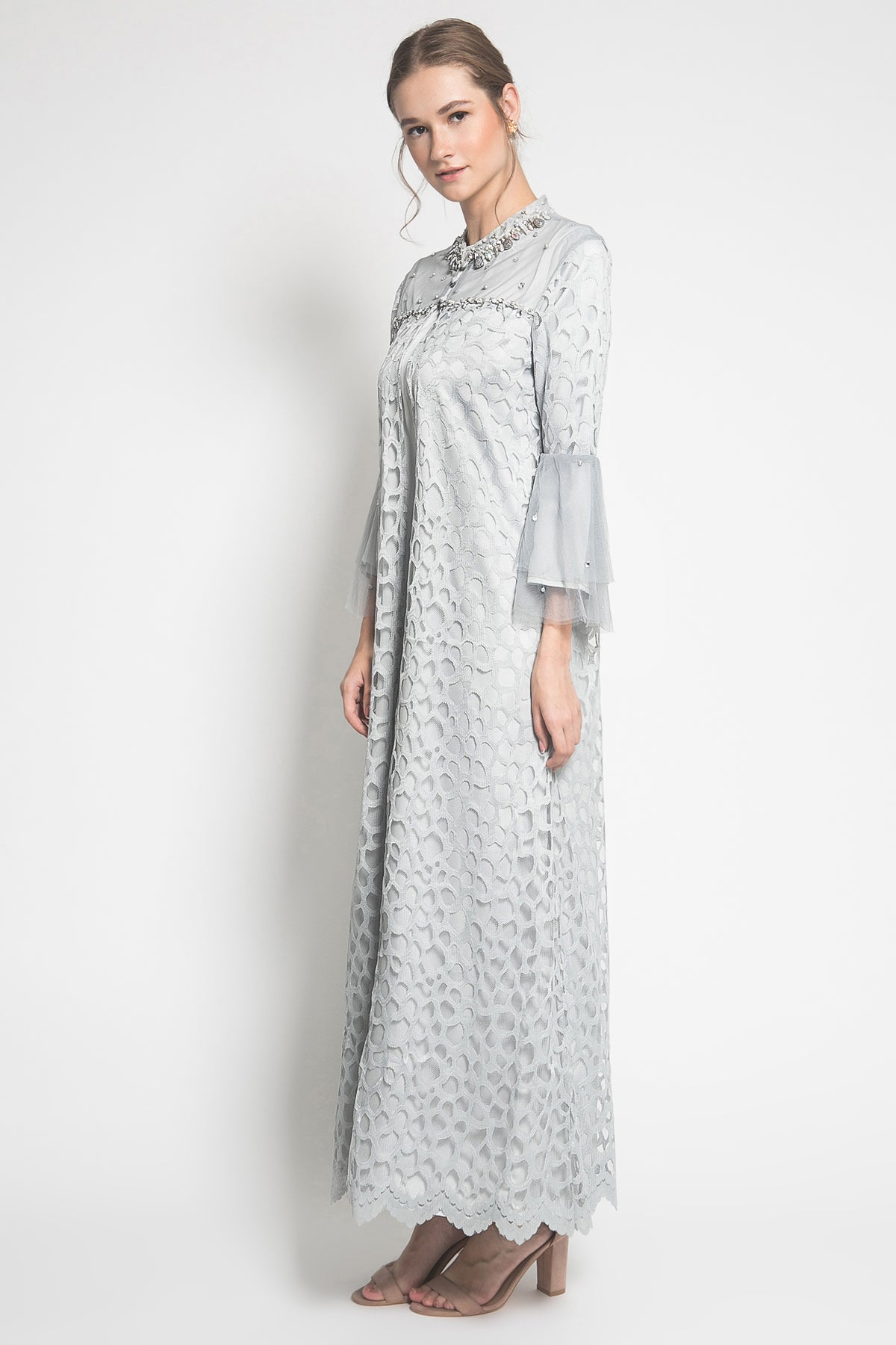 EIWA Maxima Long Dress in Greyish Blue