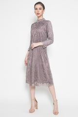 Minerva Lace Tunic in Soft Lilac