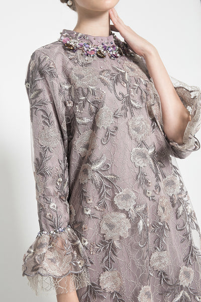 Liora Double Layer Tunic in Lilac