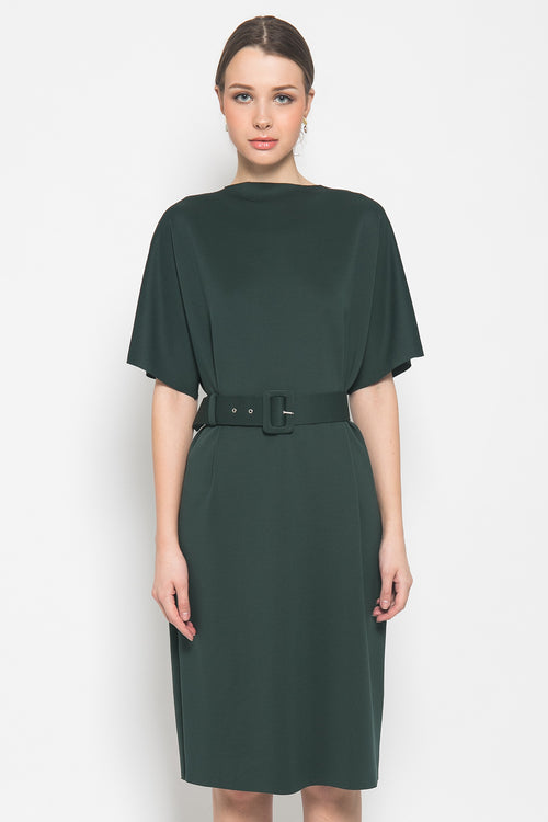 Eliza Dress in Dark Green