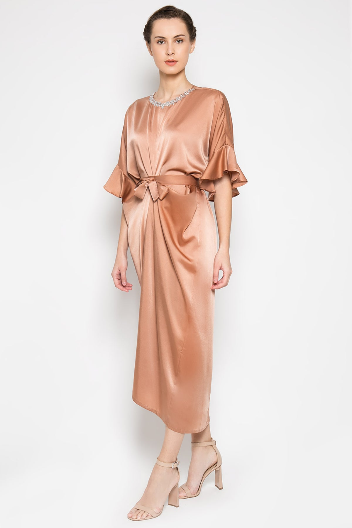 Amara Kaftan in Warm Beige