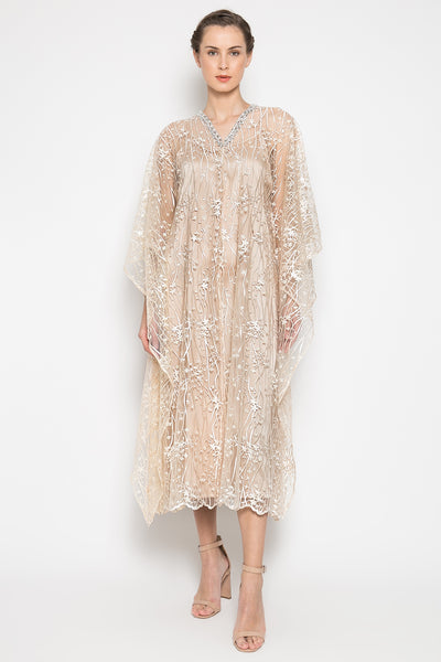 New Serra Dress in Champagne