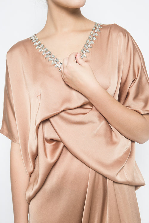 Embara Lana Kaftan in Warm Beige