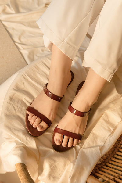 Emily Sandals in Wine
