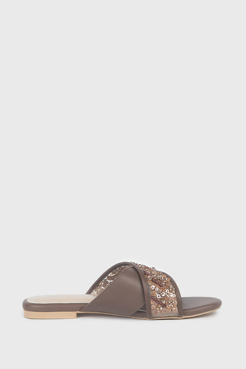 Noor Shoes in Brown