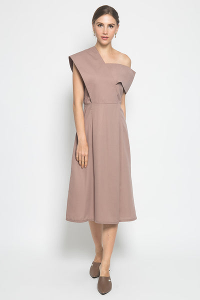 Kathe Dress in Khaki