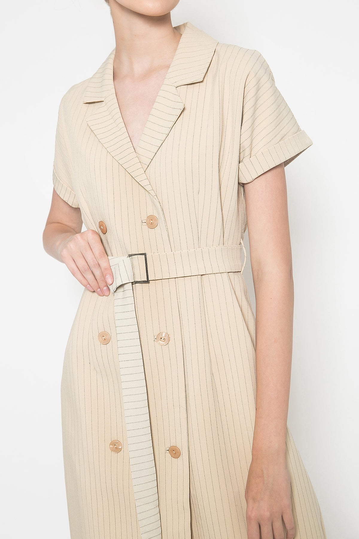 Dauphine Dress in Wheat Brown
