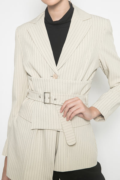 Maize Blazer in Beige