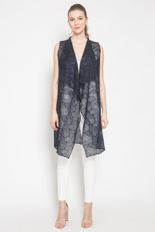 Gladys Vest in Navy