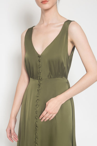 Caroline Dress in Green