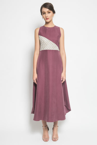 House of Apia Willia Dress in Red Violet