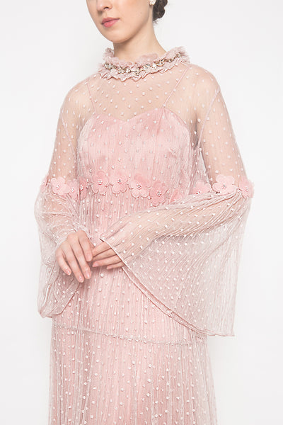 Camelia Dress in Blush Pink