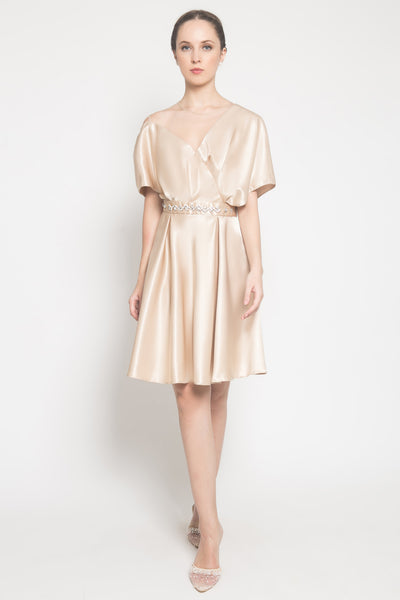 Jasmine Dress in Pale Gold