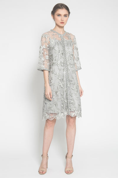 Lily Dress in Cloud Grey