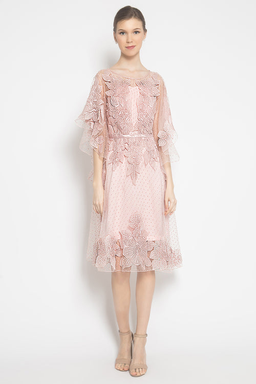 Acantha Mini Dress in Blush Pink