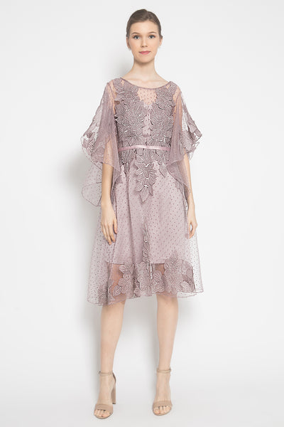 Acantha Mini Dress in Purple Mauve