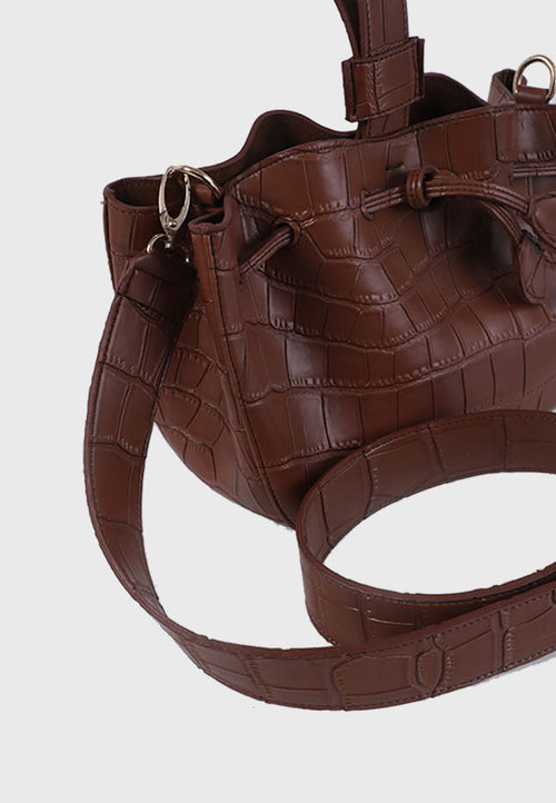 KimxLim Shuma Bag Crocs in Pecan