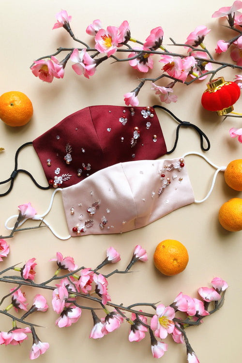 Cherry Blossom Couture Mask