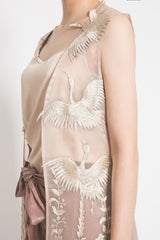 Cormorant Bird Vest in Cream