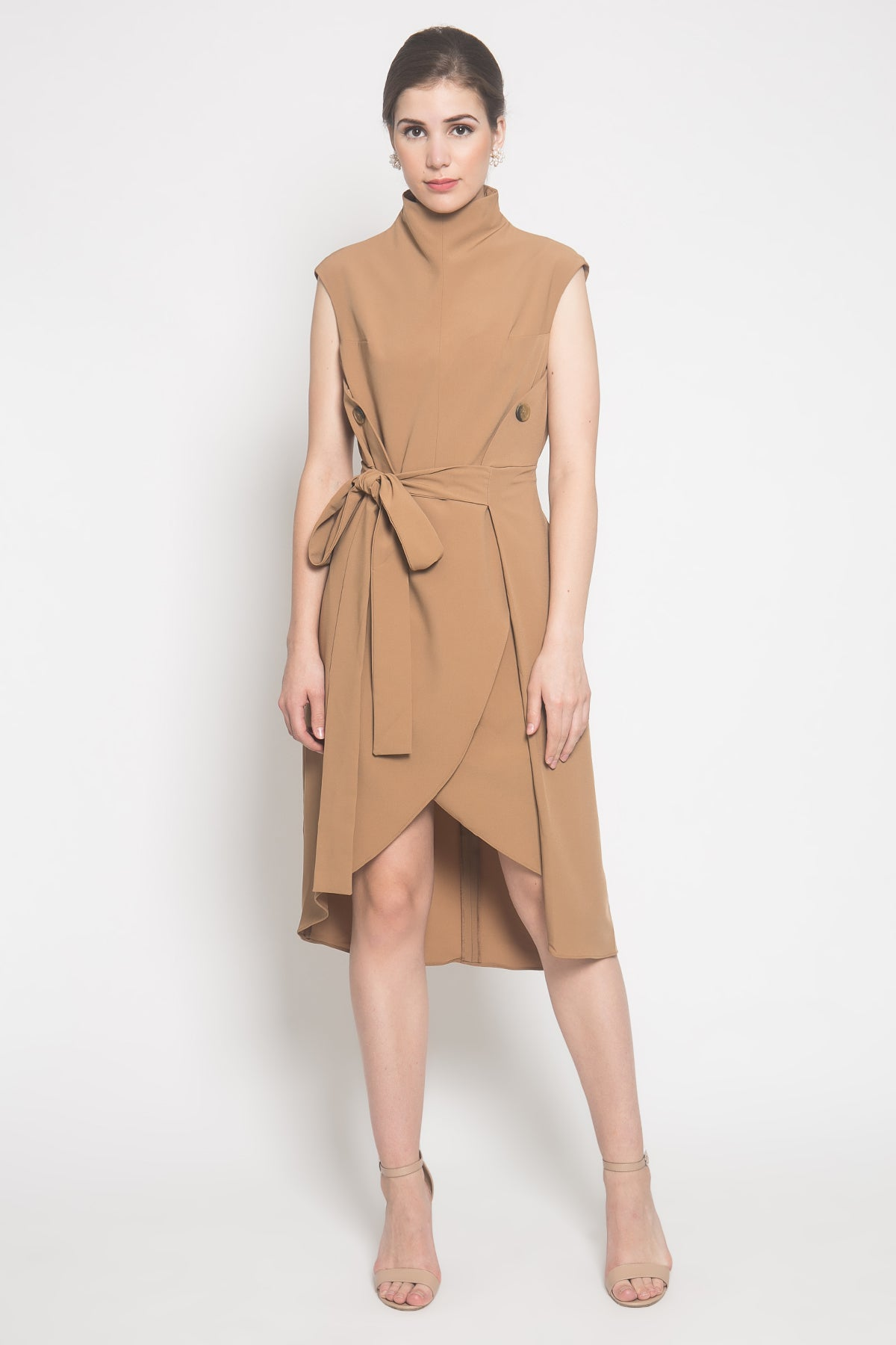 Annika Dress in Camel Brown