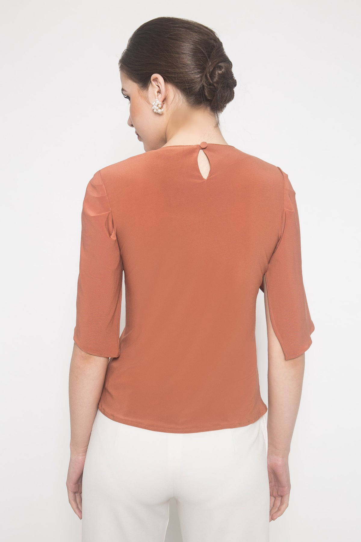 Inca Cowl Top in Coral