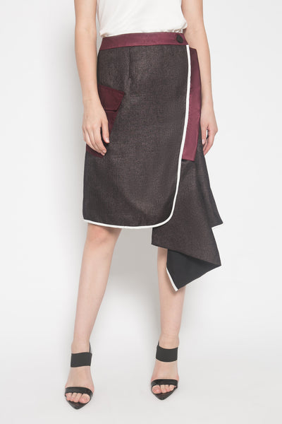 Kaia Skirt in Maroon