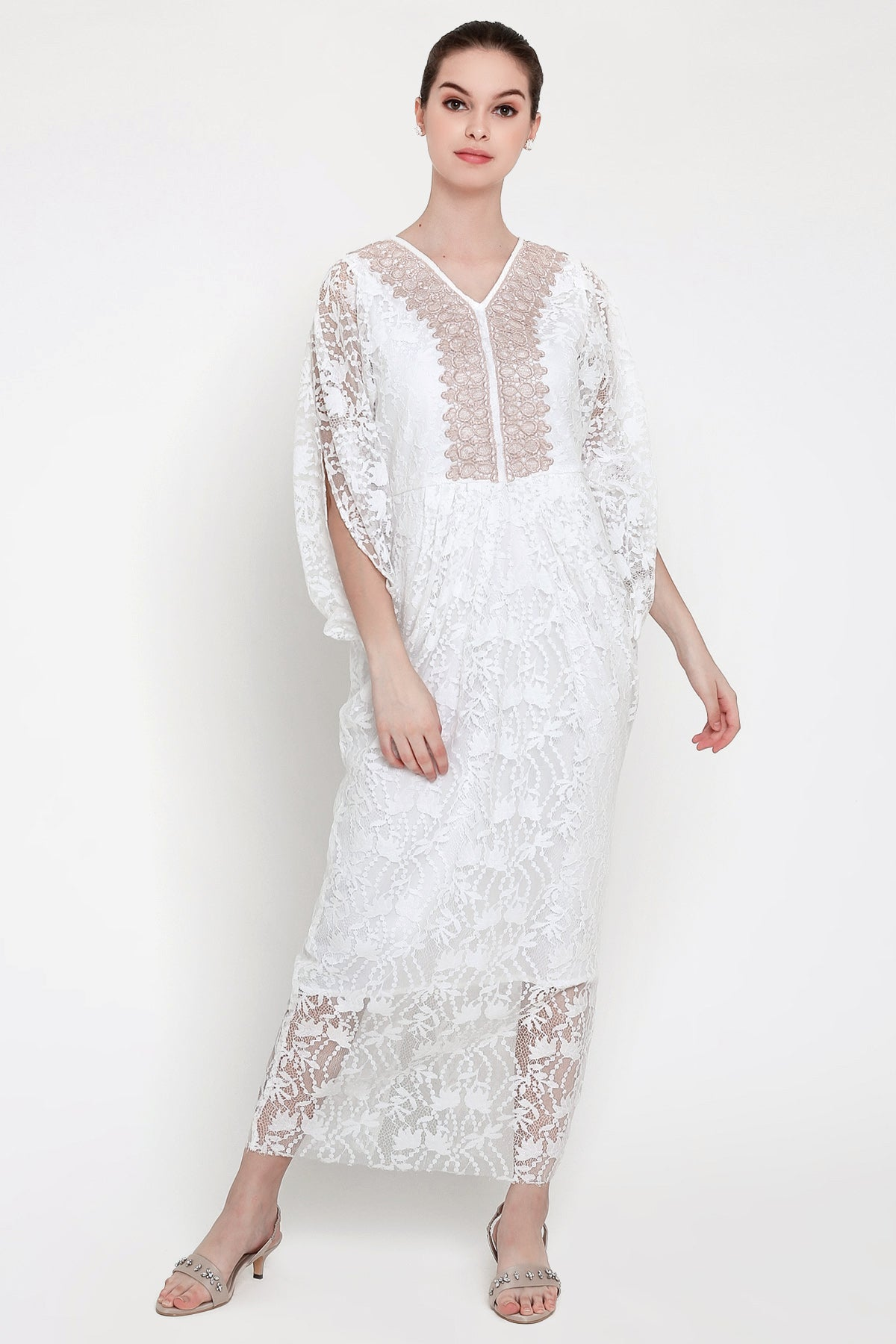 Flora Kaftan in White