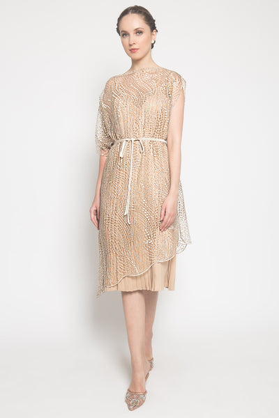 Briele Dress in Champagne Gold