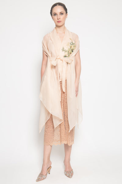 Faroe Outer Vest in Nude