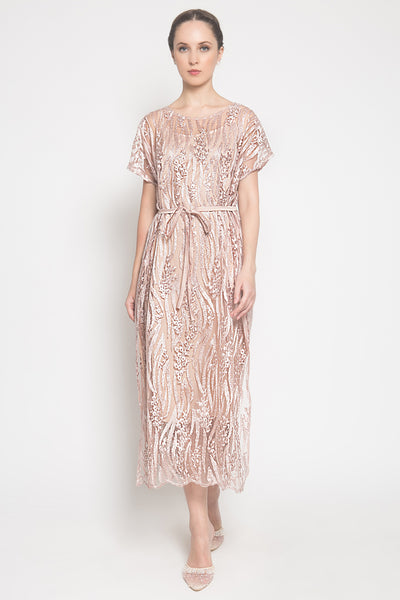 Mier Dress in Rosegold
